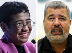 Nobel Peace Prize 2021: Journalists Dmitry Muratov and Maria Ressa win for fight for freedom of expression