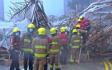 1 死的, others trapped after Hong Kong scaffolding collapses