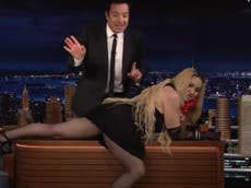 Madonna flashes Jimmy Fallon and audience on The Tonight Show