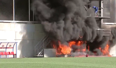 Fire breaks out at stadium ahead of England's World Cup qualifier with Andorra