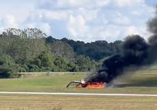 Plane crashes and catches fire at Georgia airport, killing at least one