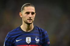 Adrien Rabiot to miss France's Nations League final against Spain with Covid