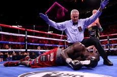 Deontay Wilder taken to hospital after Tyson Fury delivers vicious knockout