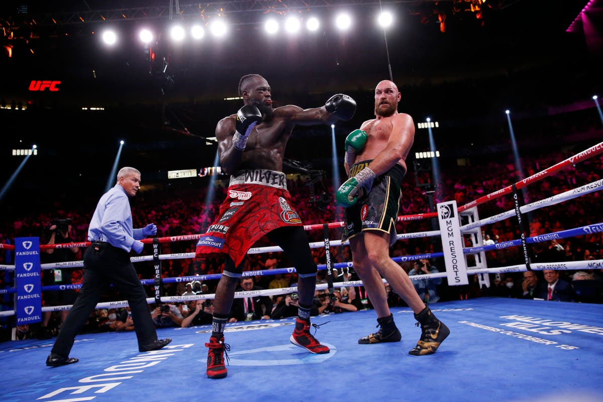 Tyson Fury led Deontay Wilder on all three scorecards before knockout