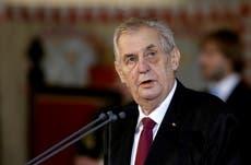 Czech president Milos Zeman taken to hospital
