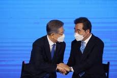 South Korea's ruling party nominates maverick politician in election race