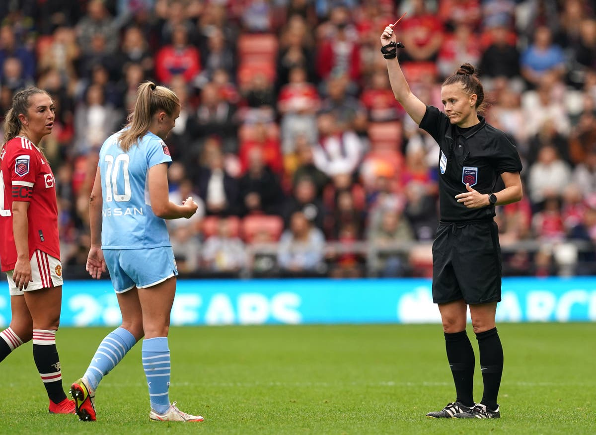 Georgia Stanway reveals she received abusive messages online after red card