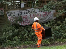 Stop HS2: Four evicted from HS2 protest camp but Swampy remains