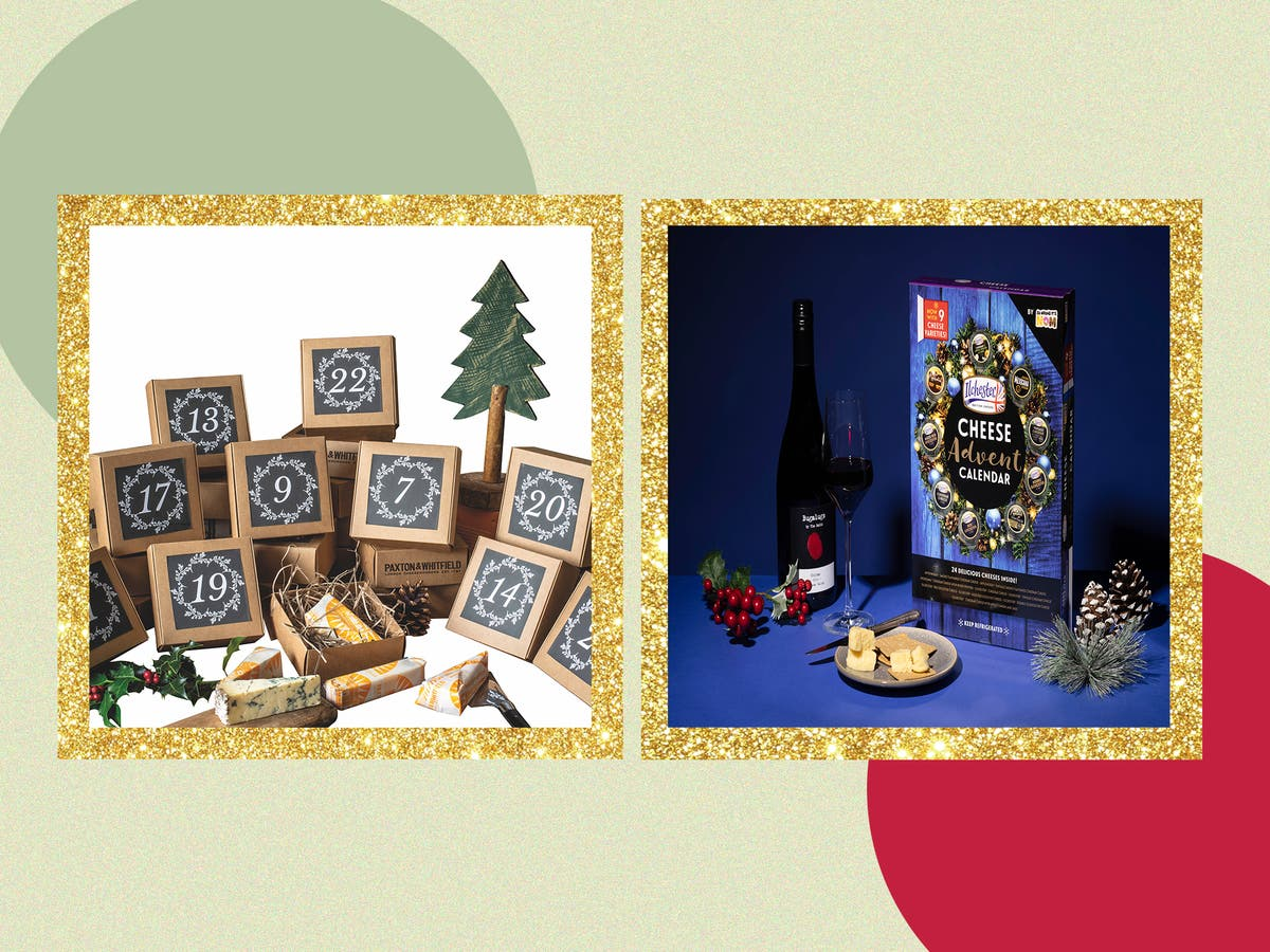 Have an alternative Christmas countdown with a cheese advent calendar