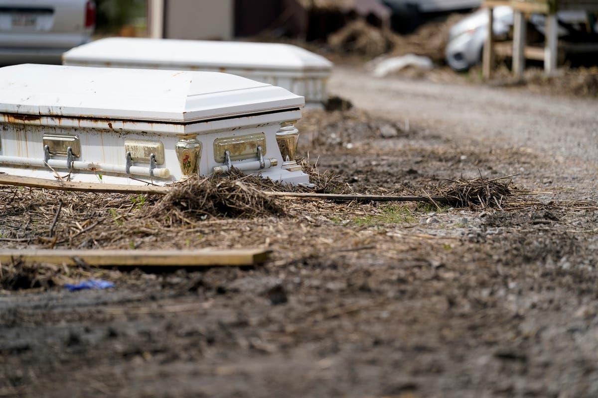 Hurricane Ida in Louisiana: Caskets, vaults still displaced