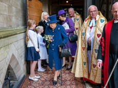Queen uses walking aid for first time at Westminster Abbey service