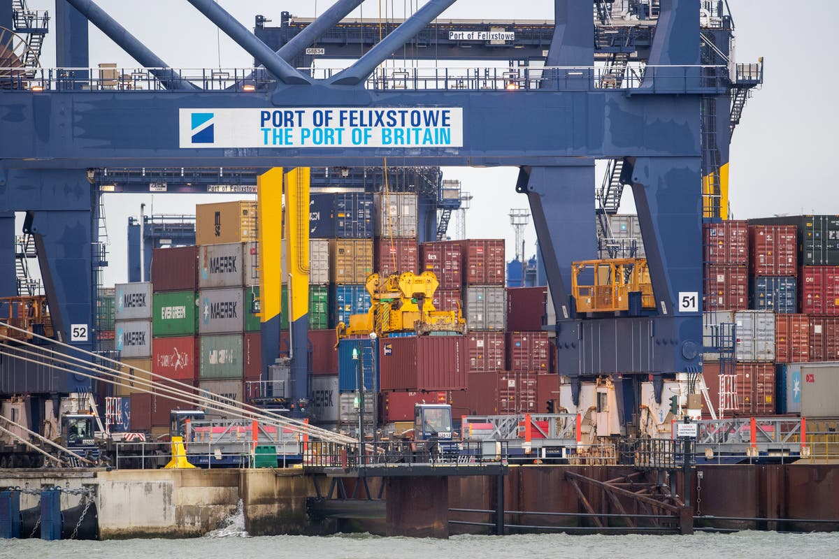 Cargo ships diverted away from UK ports amid containers backlog