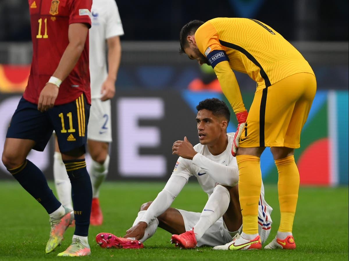 Manchester United reveal extent of Raphael Varane groin injury