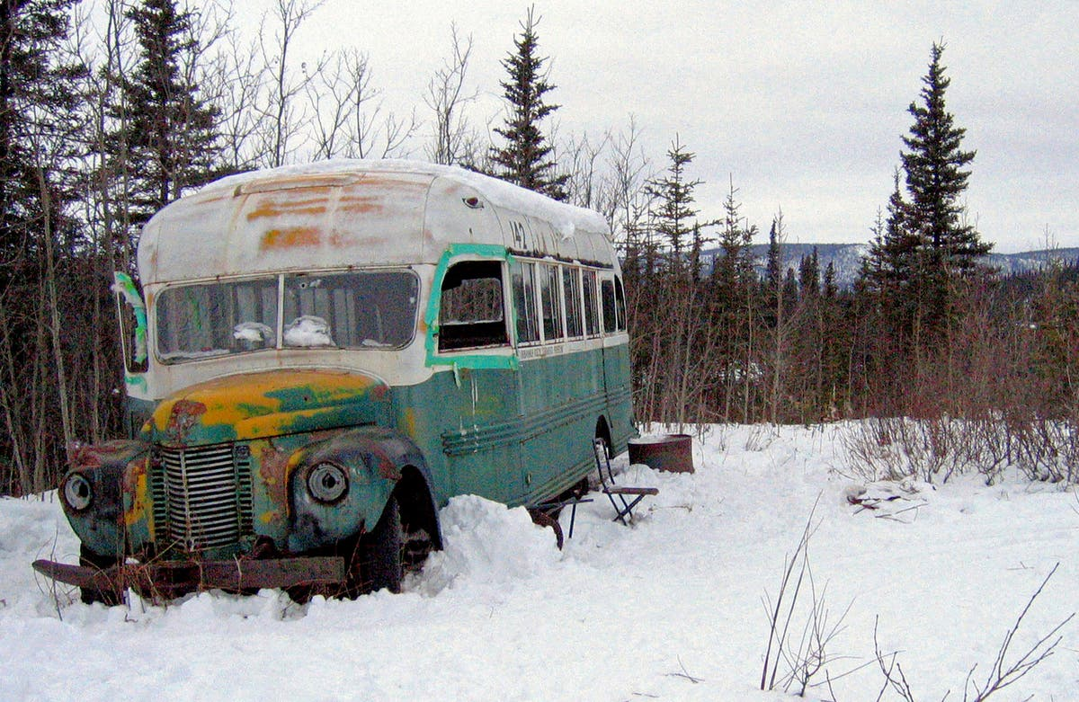'Into the Wild' bus on display during preservation work