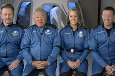 What time is the Blue Origin launch today?