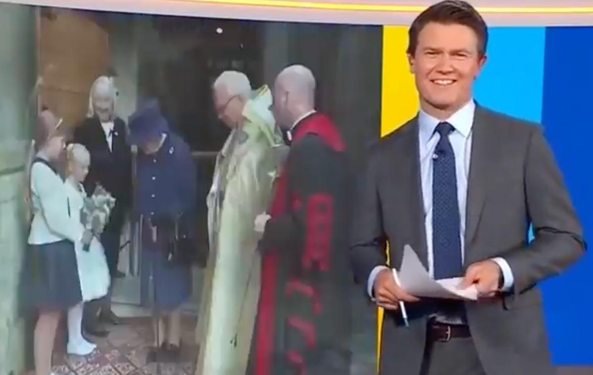 Australian TV host shocks viewers with joke about the Queen's walking stick