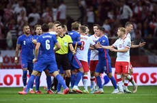 Fifa to take no action over Kyle Walker's clash with Poland's Kamil Glik