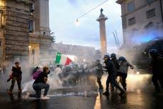 Neo-fascists exploit 'no-vax' rage, posing dilemma for Italy