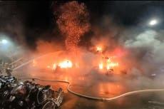 Fire kills 14 人们, 伤害 51 in southern Taiwan