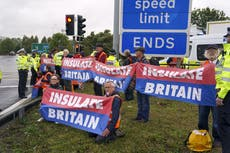 Insulate Britain pausing 'civil resistance' campaign until 25 Outubro