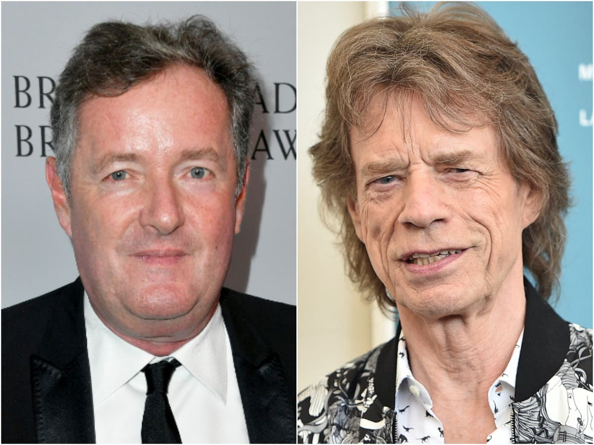 Piers Morgan criticises 'cowardly' Rolling Stones for dropping 'Brown Sugar' from set