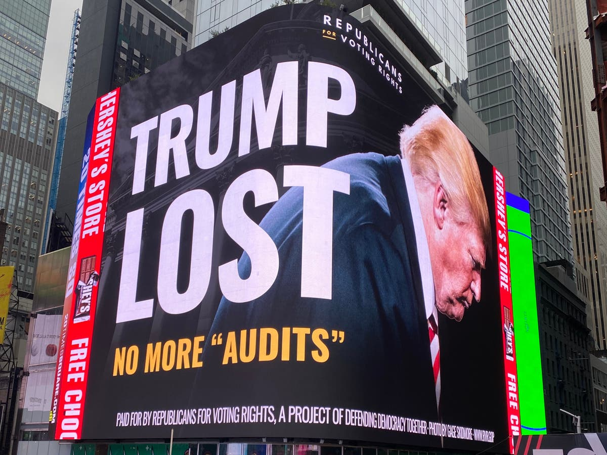 'No more audits': Republican group taunts Trump with Times Square billboard