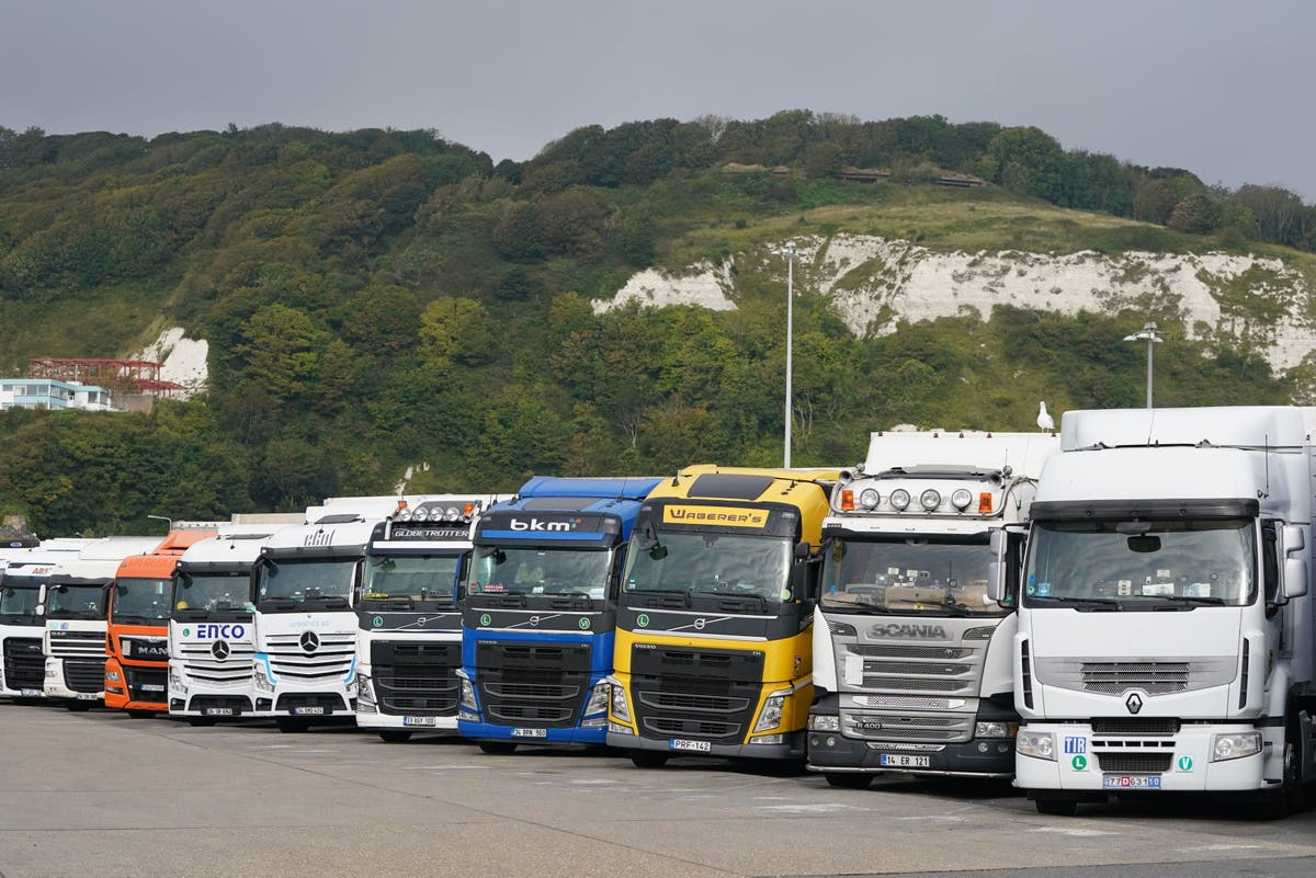 Shapps eases rules for EU lorry drivers to tackle post-Brexit HGV crisis