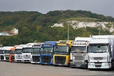 UK to ease rules for EU lorry drivers to tackle post-Brexit supply crisis