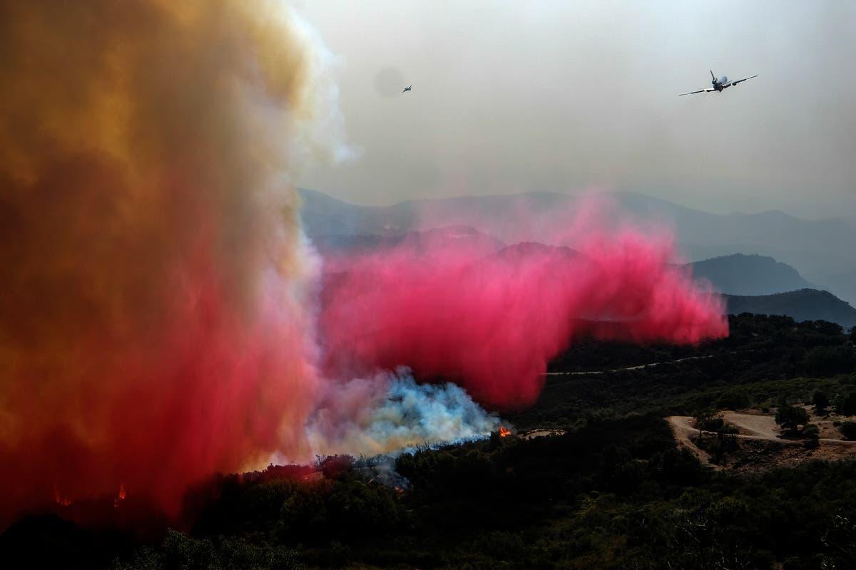 Calmer winds aid firefighters battling California blaze