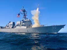 Russia claims US destroyer 'turned' from territorial waters during drills with China