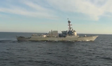 Russia shadows US Navy destroyer in dramatic video amid warnings to 'turn back'
