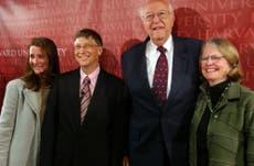 Bill Gates' stepmother Mimi Gardner Gates steals spotlight with unique flower hat ahead of Jennifer's wedding