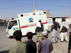 少なくとも 47 dead after blast hits Afghanistan mosque during prayers