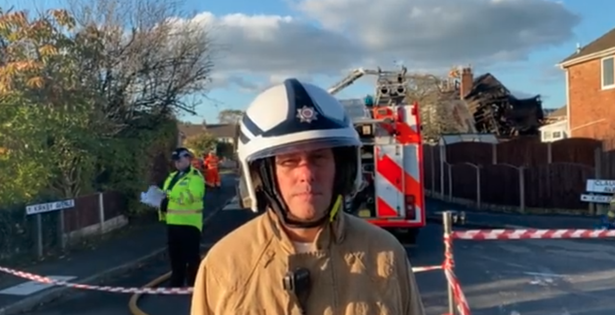 Man dies as house collapses after explosion in Lancashire