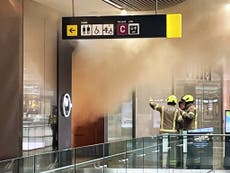 London shopping centre evacuated after fire
