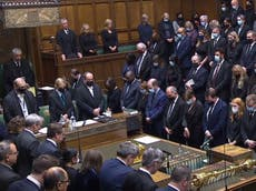 Patel pays tribute to 'decent and loyal' MP David Amess – follow updates live