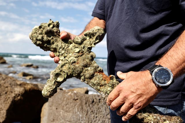 A 900-year-old sword believed to have belonged to a crusader who sailed to the Holy Land has been found at the bottom of the Mediterranean Sea off the coast of Israel