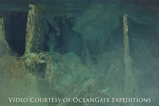 Titanic's disappearing bathtub pictured in footage from new expedition to wreck