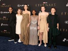 Angelina Jolie's daughter wears her mother's Oscars dress to Eternals premiere