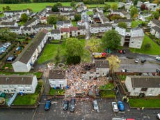 Scotland explosion: Four in hospital after 'big bang' in Ayr that raised house