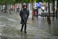 Thunderstorm warning issued across England and Wales with disruptions likely for some