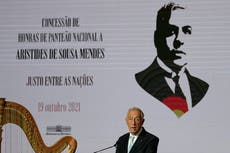 Portugal honors diplomat who saved thousands from Nazis