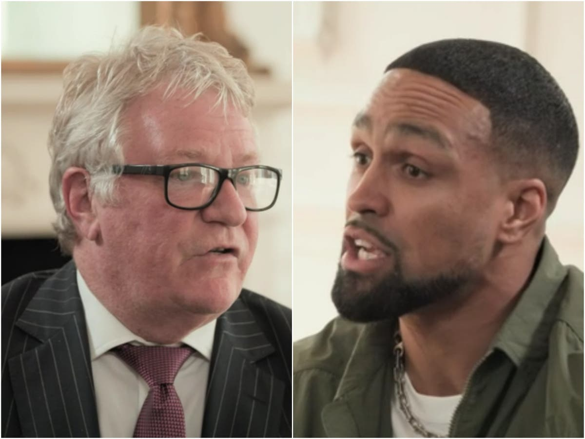 Jim Davidson challenged by Ashley Banjo about 'disgusting' remarks in tense interview