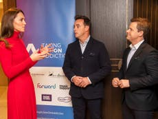 Ant McPartlin tells Kate Middleton about addiction battle