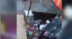 Huge sinkhole swallows up food stall and dozen customers in India