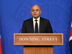 Covid daily cases could soar to 100,000 this winter, Sajid Javid warns