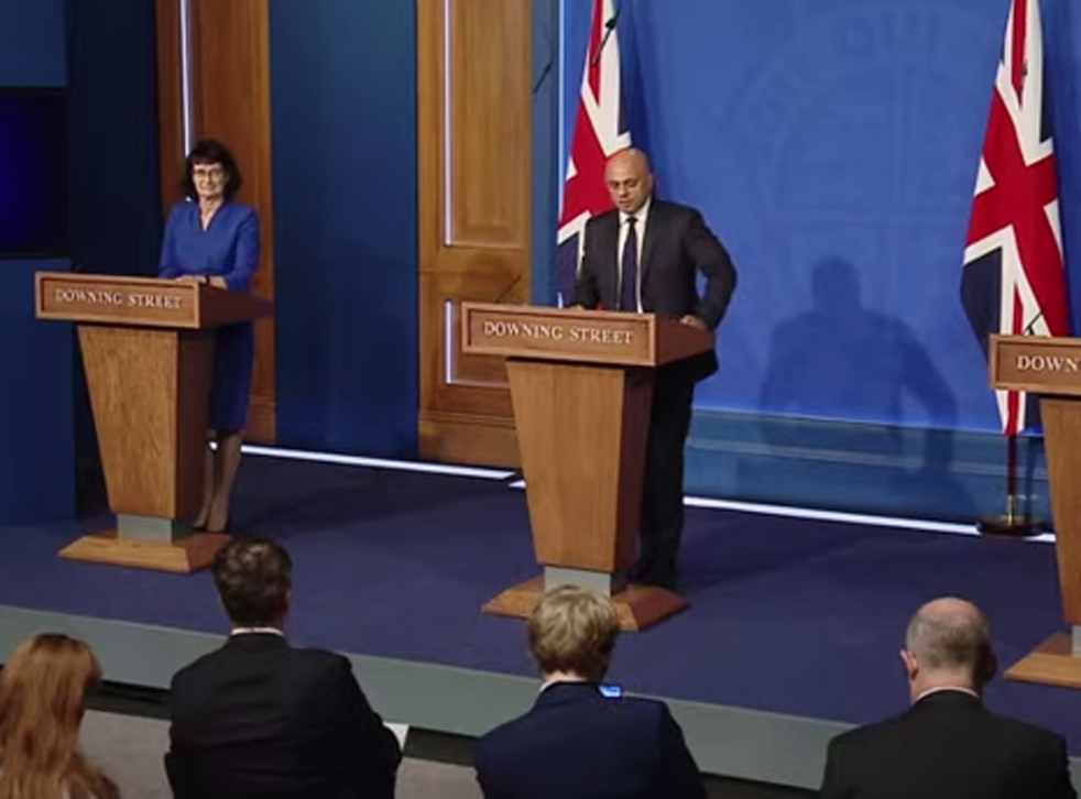 <p>Sajid Javid leads today's press conference  </p>