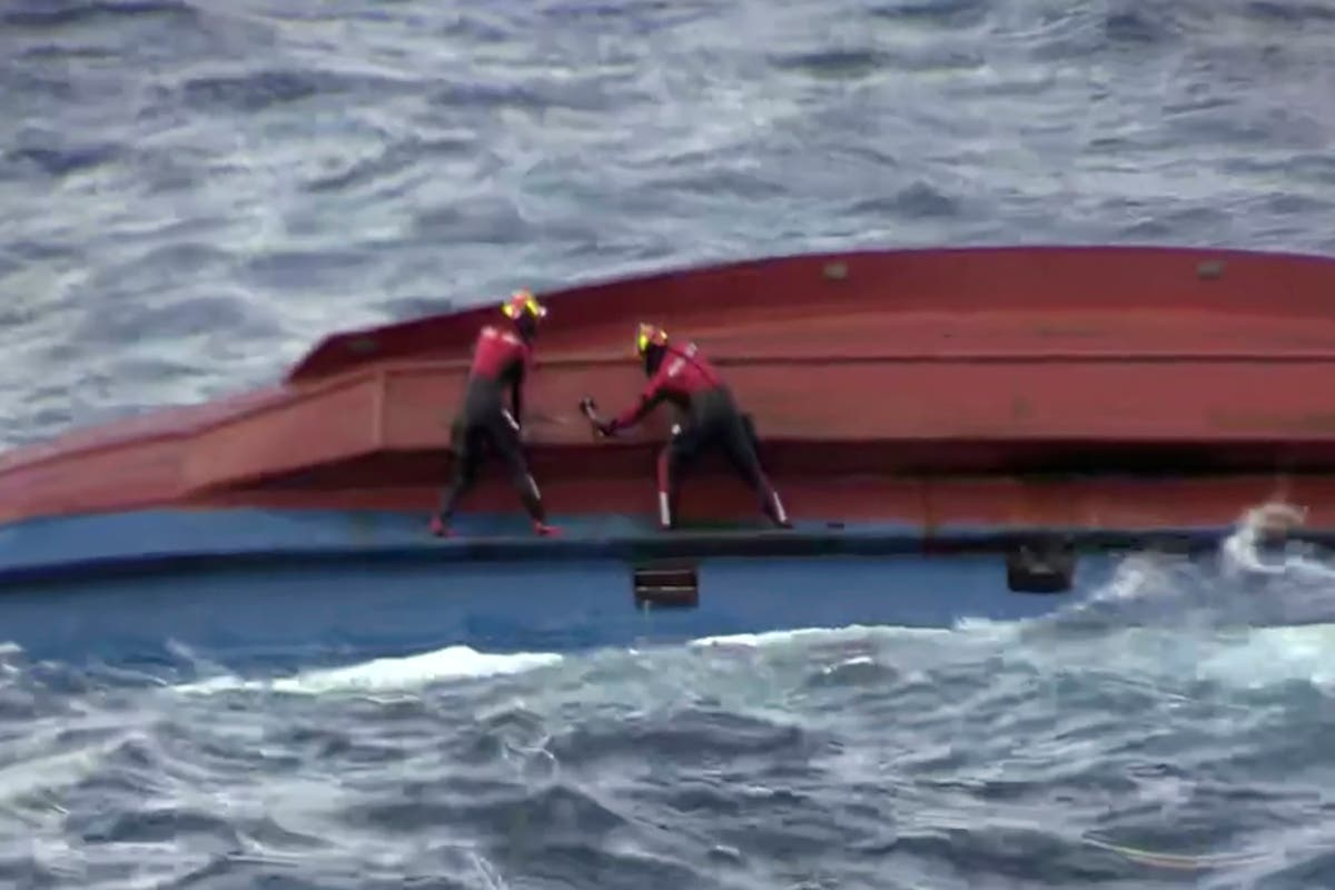 6 missing, a day after ship capsizes off South Korea