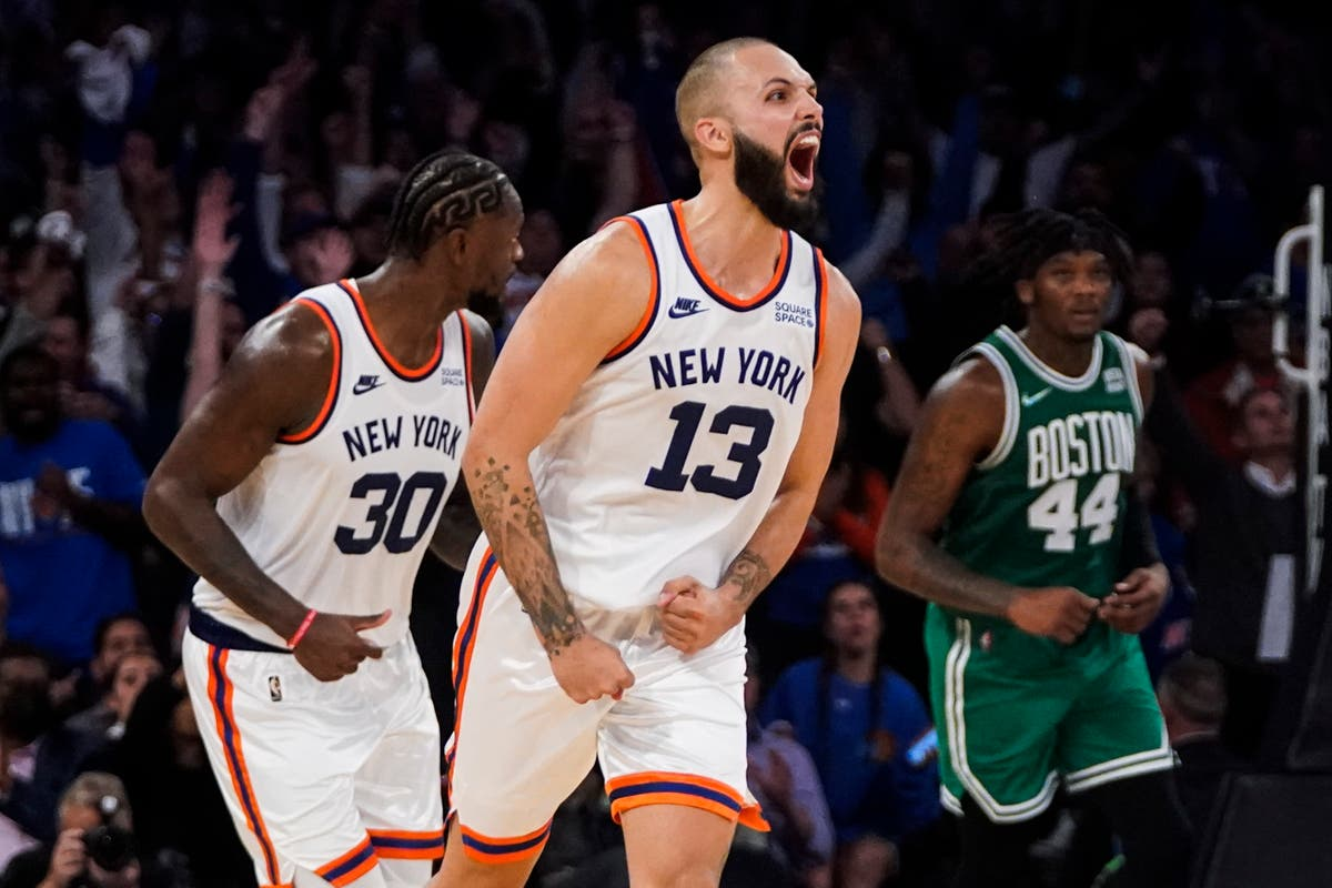 Evan Fournier stars on debut for New York Knicks as side secure double OT win