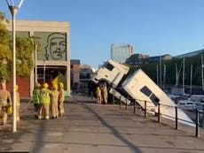 Lorry plunges into Bristol harbour